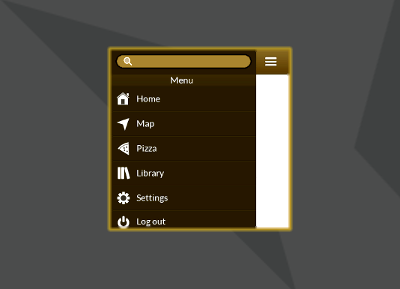 how to create a menu in unity